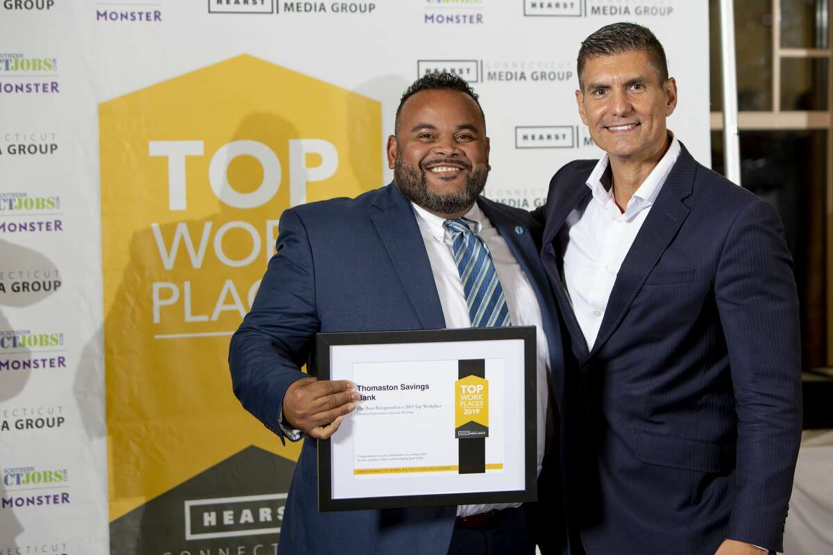 Hearst CT Media Group held The 2019 Top Work Places Awards Dinner at The Waterview in Monroe, CT.  on September 25 2019, More than 300 attendees, representing 50 businesses, hosted the annual event honoring businesses voted best places to work by their employees. Click here to purchase photos