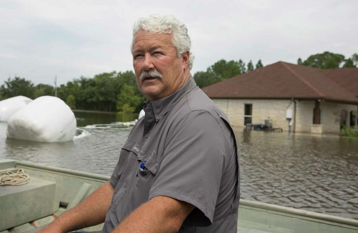Steve Devillier, 59, returned to his flooded home on Devillier Road to check on his zebra on Friday, Sept. 20, 2019, near Winnie.