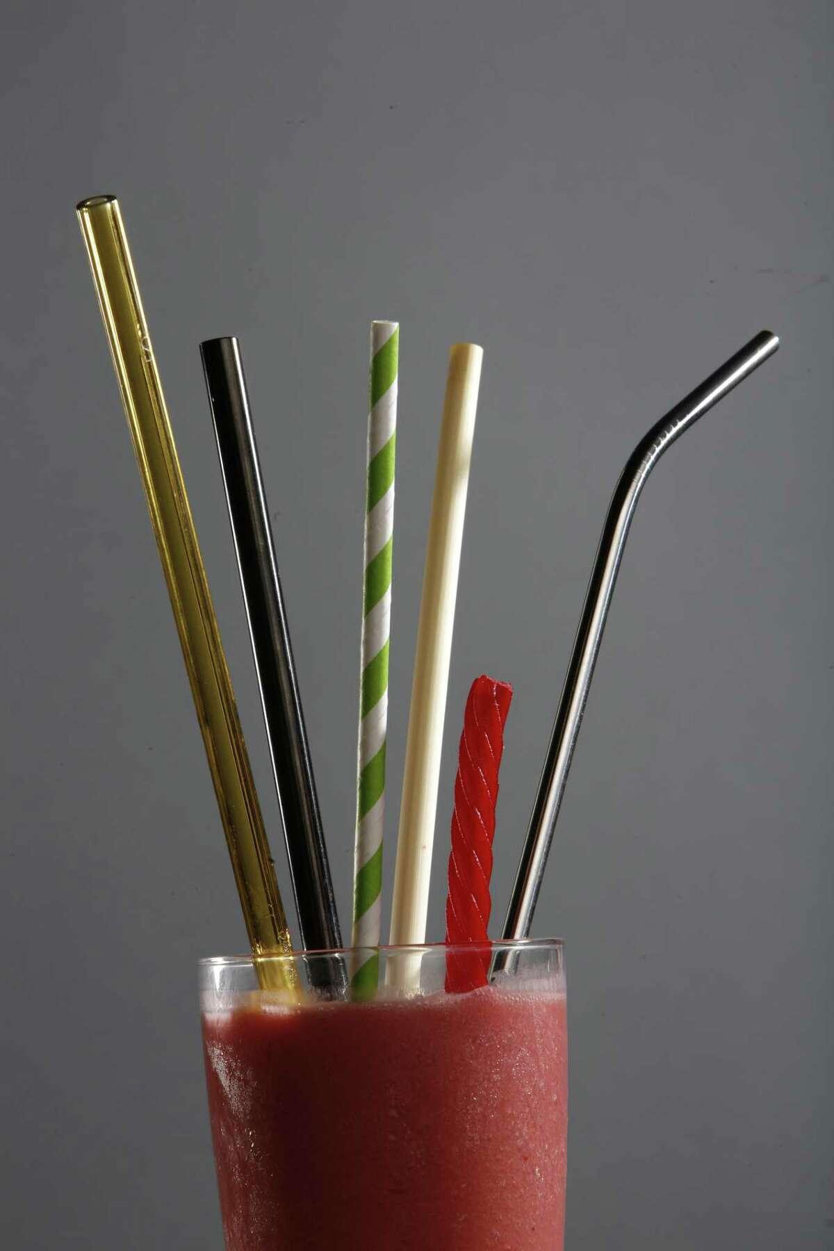Alternatives to plastic straws.