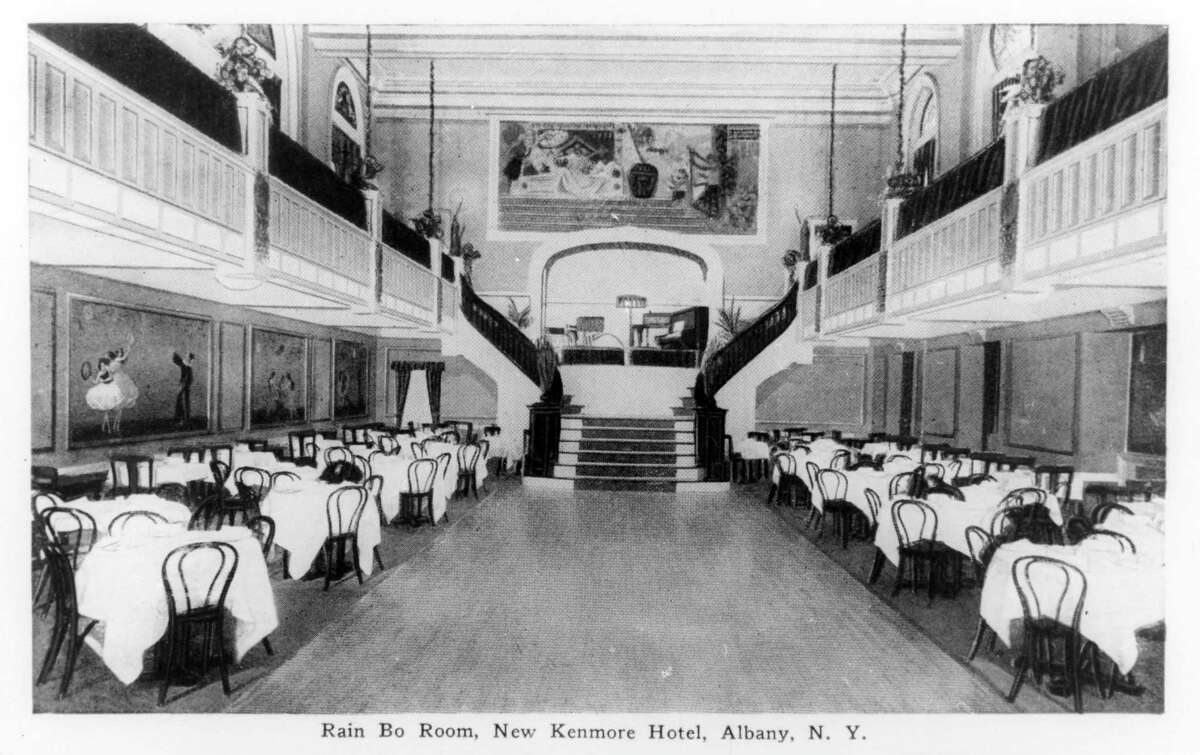 Kenmore Hotel, Albany. Located at the corner of North Pearl Street and Colombia Street. Rain Bo Room. Undated. (Times Union Archive)