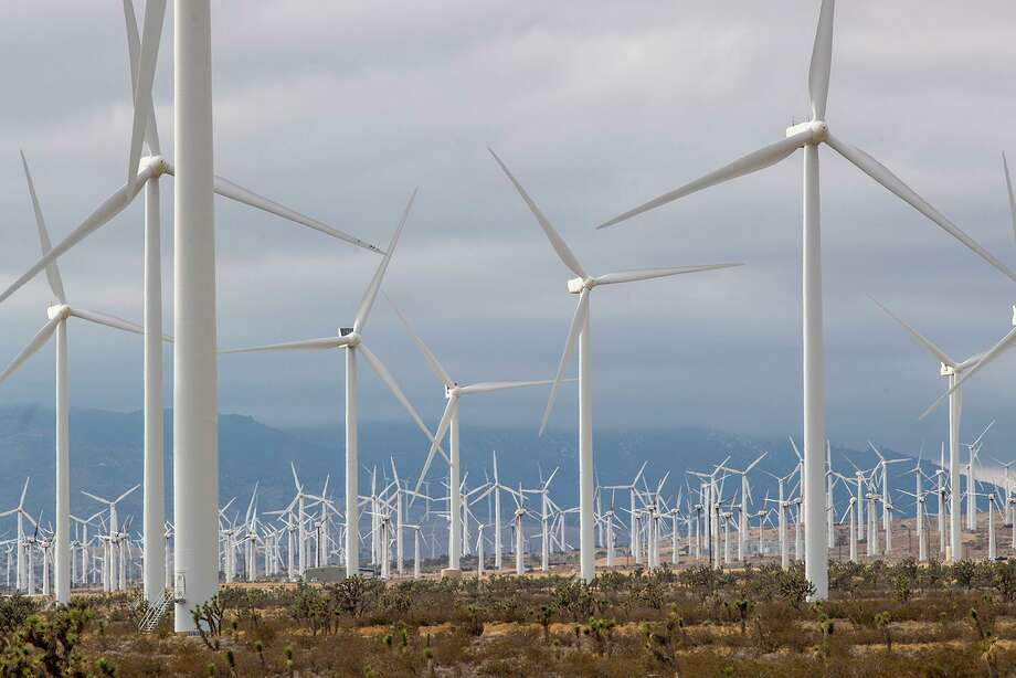 Wind turbines stand tall in the desert near the city of Mojave, Calif. A reader is confused by the EPA's sudden interest in the Golden State. Perhaps those concerns are more political than environmental? Photo: Brian Van Der Brug /TNS / Los Angeles Times
