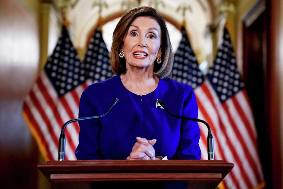 """U.S. House Speaker Nancy Pelosi should call for a vote on the impeachment of Donald Trump. It is clearly laid out in the Trump-Zelenskiy conversation that the Trump administration released Wednesday. Despite claiming it was a """"perfect"""" phone call, Trump has handed the House all it needs for a single article of impeachment charging him with abuse of power. Photo: Andrew Harnik /Associated Press / Copyright 2019 The Associated Press. All rights reserved"""