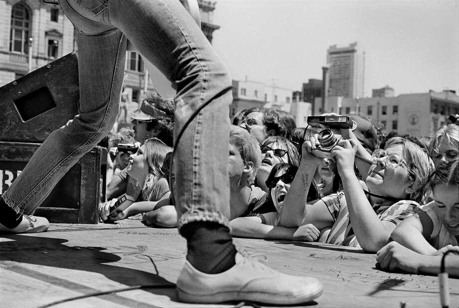 """Ramones free concert, Civic Center Plaza, San Francisco, 1979"" is one of the photos in Michael Jang's new monograph ""Who is Michael Jang?"" Jang's works are currently on exhibit at the McEvoy Foundation for the Arts in San Francisco. For a selection of his images, continue through the gallery. Photo: Copyright/Photos By Michael Jang"