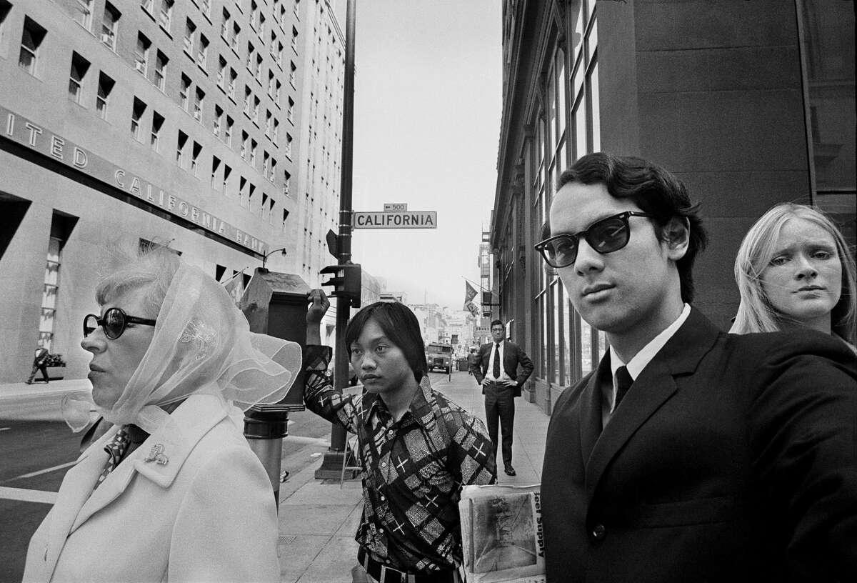 Self-portrait of Michael Jang, San Francisco Financial District, 1973.