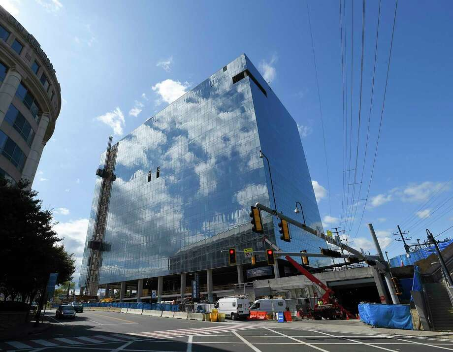 This under-construction 500,000-square-foot building at 406 Washington Blvd., in downtown Stamford, Conn., will house Charter Communications' new headquarters. Photo: Matthew Brown / Hearst Connecticut Media / Stamford Advocate