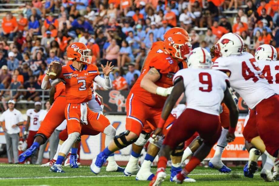 Sam Houston State football player Eric Schmid. Photo: Charlie Blalock, Sam Houston State University