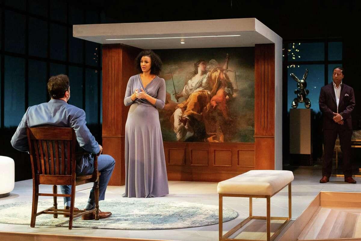 "Elijah Alexander and Tiffany Rachelle Stewart in Alley Theatre's ""The Winter's Tale,"" 2019"