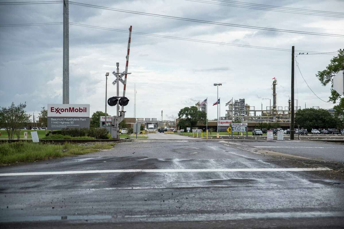 More than 36,000 pounds of pollutants were released into the air by the Exxon Mobil facility in Beaumont after it was damaged by Tropical Storm Imelda.
