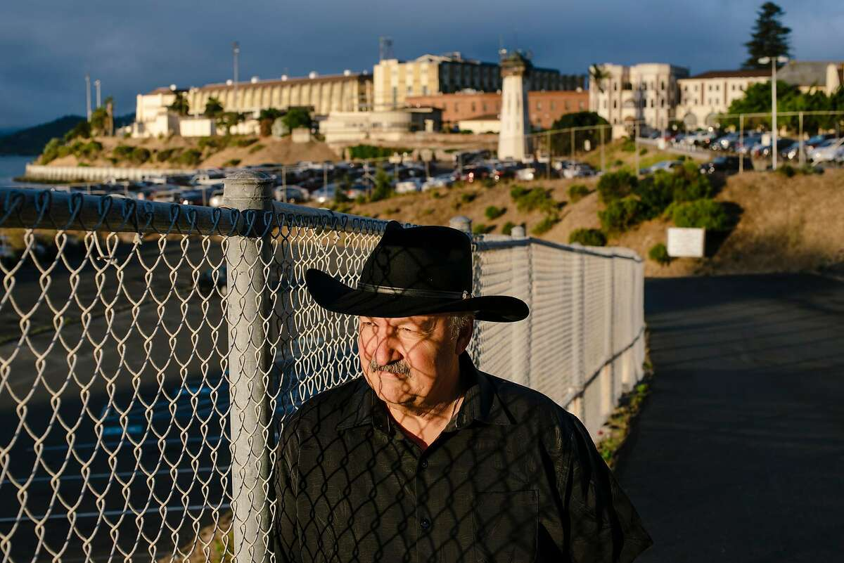 Marvin Mutch, director of advocacy for Prisoner Reentry Network, stands for a portrait in front of San Quentin State Prison in San Quentin, Calif, on Friday, September 27, 2019.