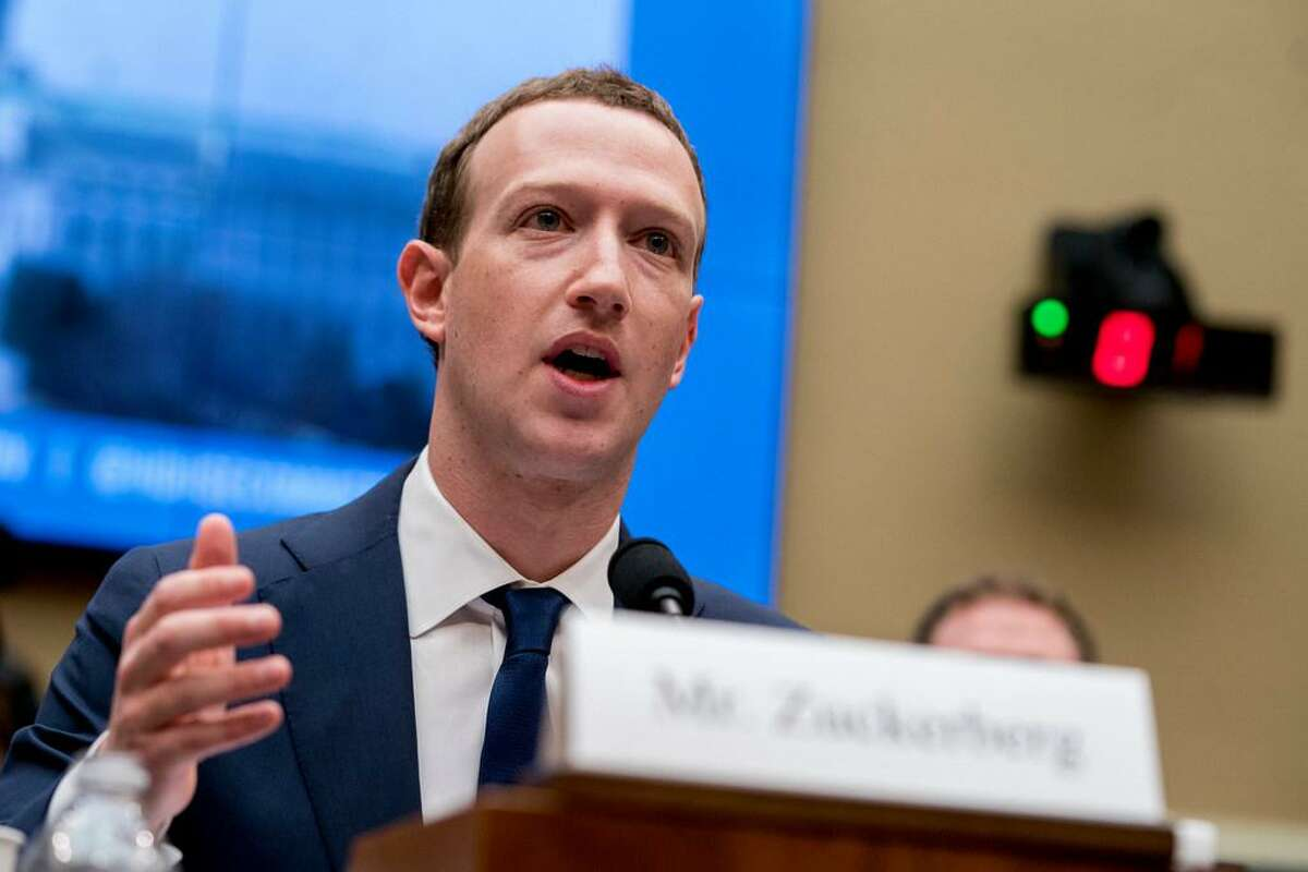 Facebook CEO Mark Zuckerberg testifies before a House Energy and Commerce hearing on Capitol Hill in Washington about data privacy and election interference.