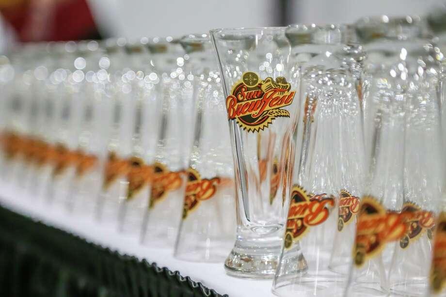 Glasses are ready for the latest Mohegan Sun BrewFest. Photo: Mohegan Sun / Contributed Photo