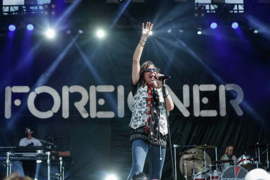 Kelly Hanson, seen here at the Indianapolis 500 this year, will lead Foreigner at Mohegan Sun Oct. 3. Photo: Michael Hickey / Getty Images / 2019 Michael Hickey