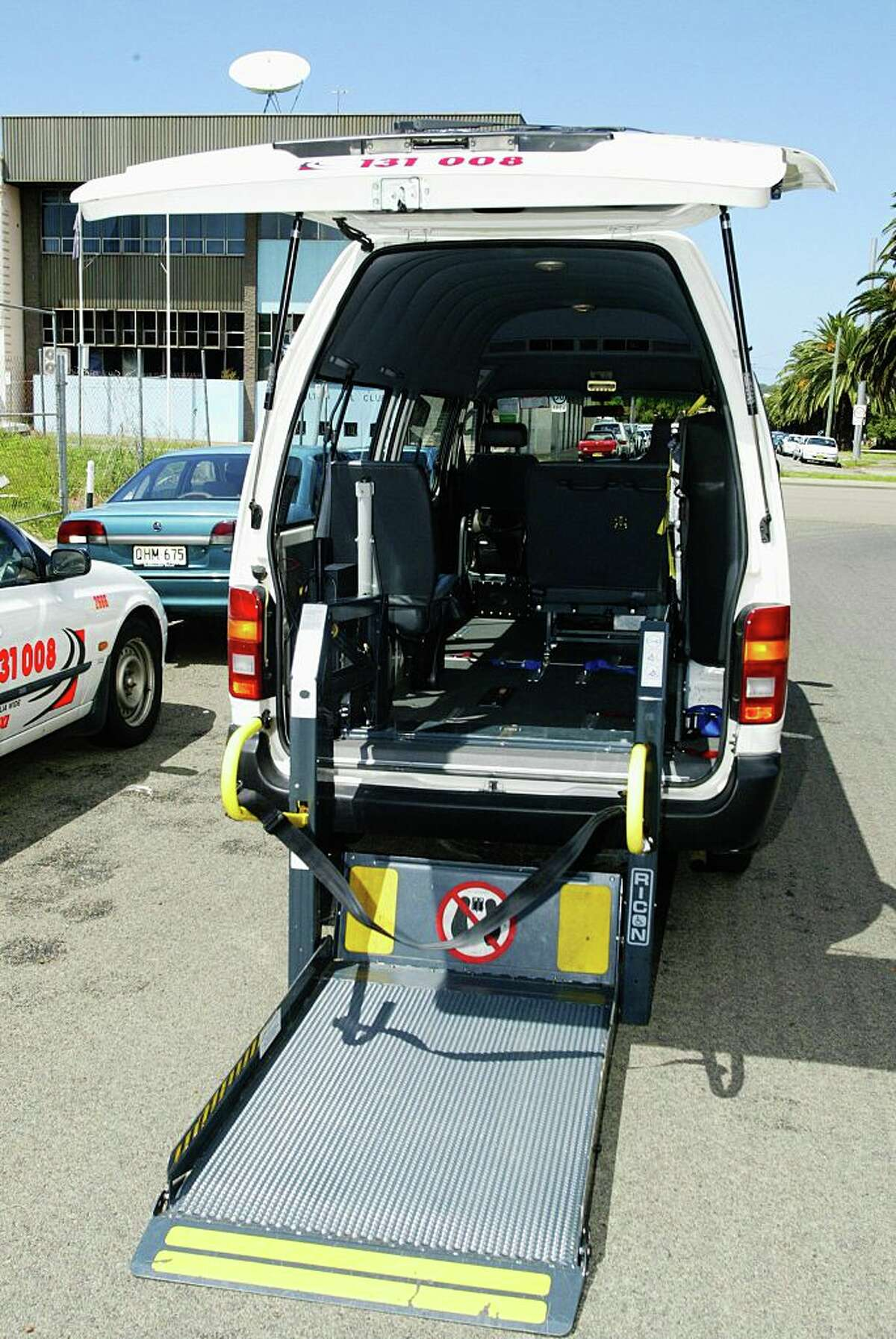 (AUSTRALIA OUT) A disabled attachment on a Newcastle Texis Taxi at Hamilton, 11 February 2005. SMH picture by FIONA MORRIS (Photo by Fairfax Media via Getty Images/Fairfax Media via Getty Images via Getty Images)