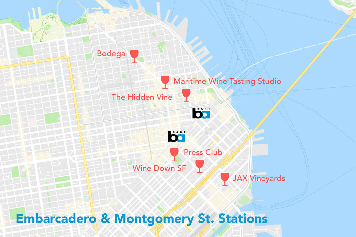 Embarcadero and Montgomery St. BART stations