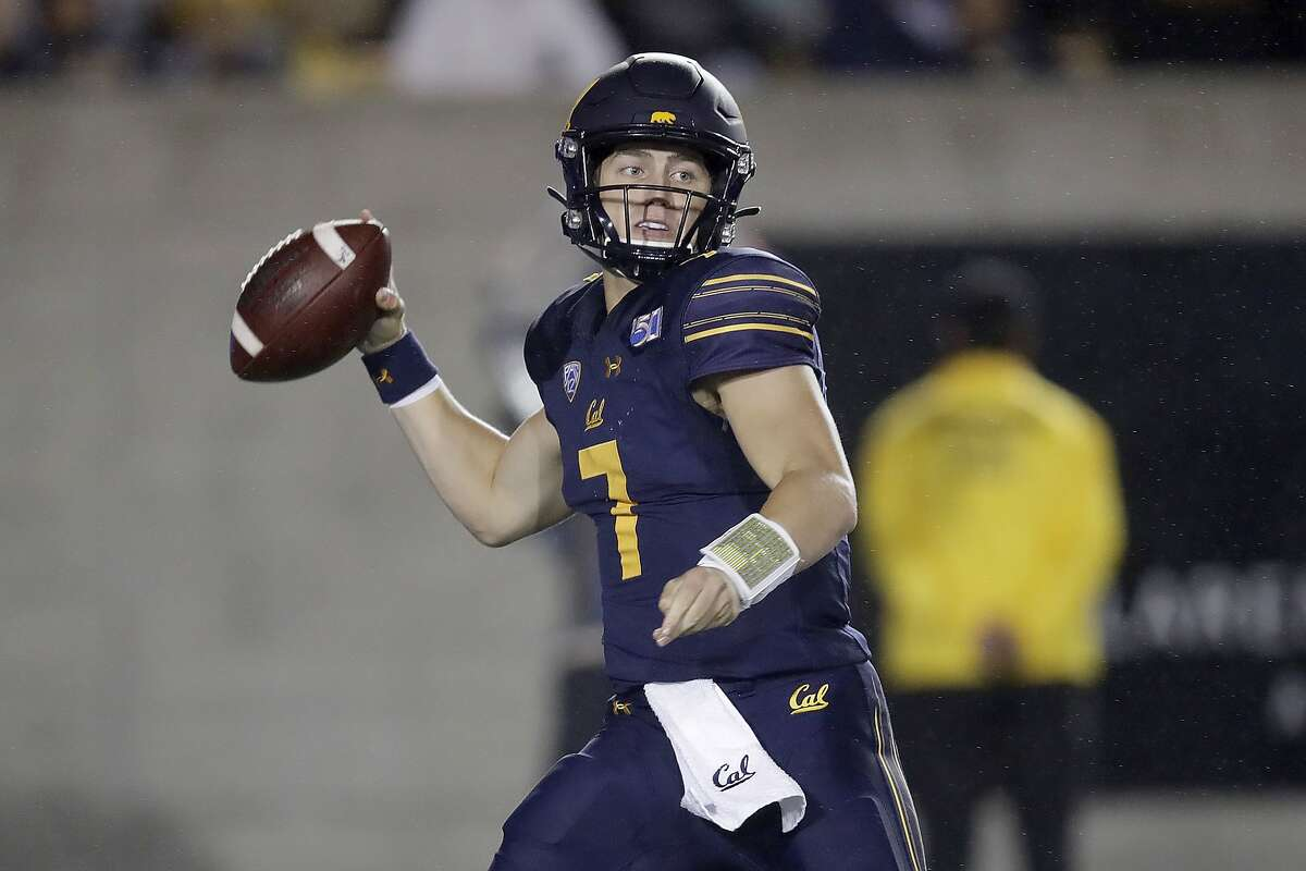 California quarterback Chase Garbers prepares to pass against Arizona State in the first half of an NCAA college football game Friday, Sept. 27, 2019, in Berkeley, Calif.