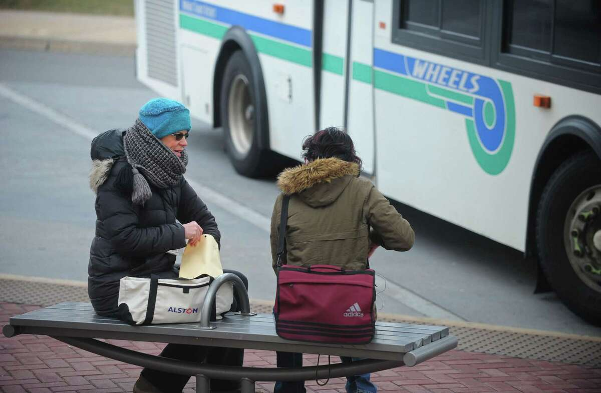 Volunteers with Fairfield County's Annual Youth Count including Nancy Meany perform a homeless count for youth Wednesday, January 24, 2018, at the Wheels Hub bus station on Burnell Boulevard in Norwalk, Conn.