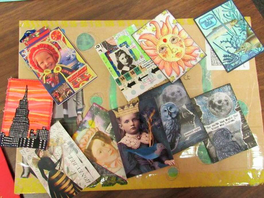 A collection of artist trading cards is on display at the Sept. 15 meeting of the Great Lakes Bay Regional Mail Art Social. (Victoria Ritter/vritter@mdn.net)