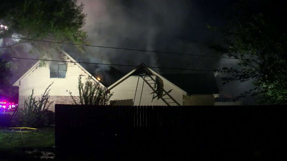 A two-alarm fire in Katy burned down a home on Willow Lane Saturday morning. No one was injured. Photo: On Scene