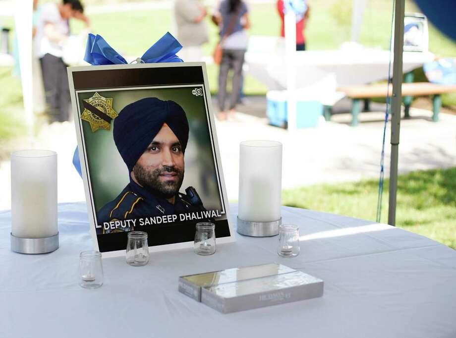 As a community mourns the loss of Harris County Sheriff's Deputy Sandeep Dhaliwal, the man charged in his murder is in jail without bond.