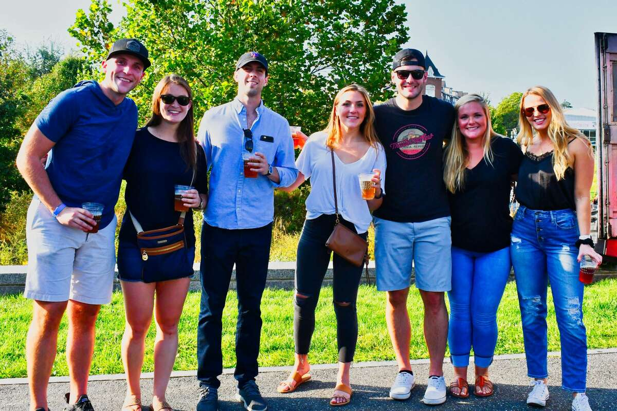 Stamford's Half full Brewery hosted Oktoberfest In The Park on September 27-28, 2019. The Oktoberfest-style event featured local food trucks, a
