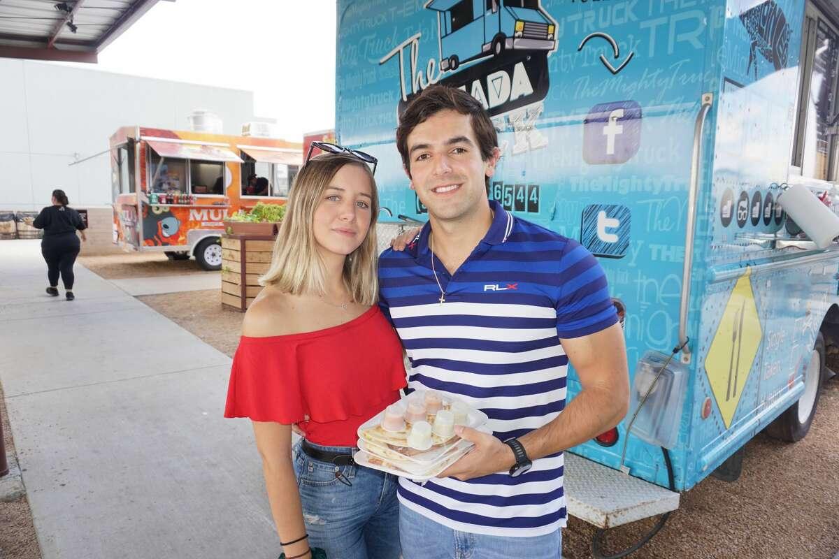 Catalina Garza and Rogelio Jimenez at Golondrina Food Park