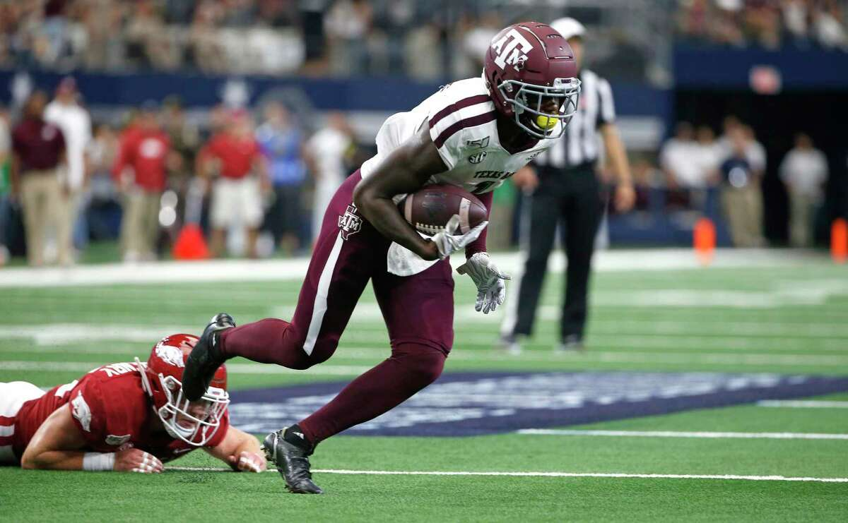Texas A&M wide receiver Quartney Davis had 54 catches for 616 yards and four touchdowns in his final season in College Station.