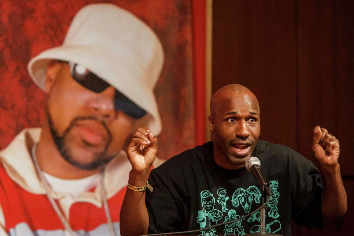 Willie D speaks during the Houston Hip Hop Conference in 2012.