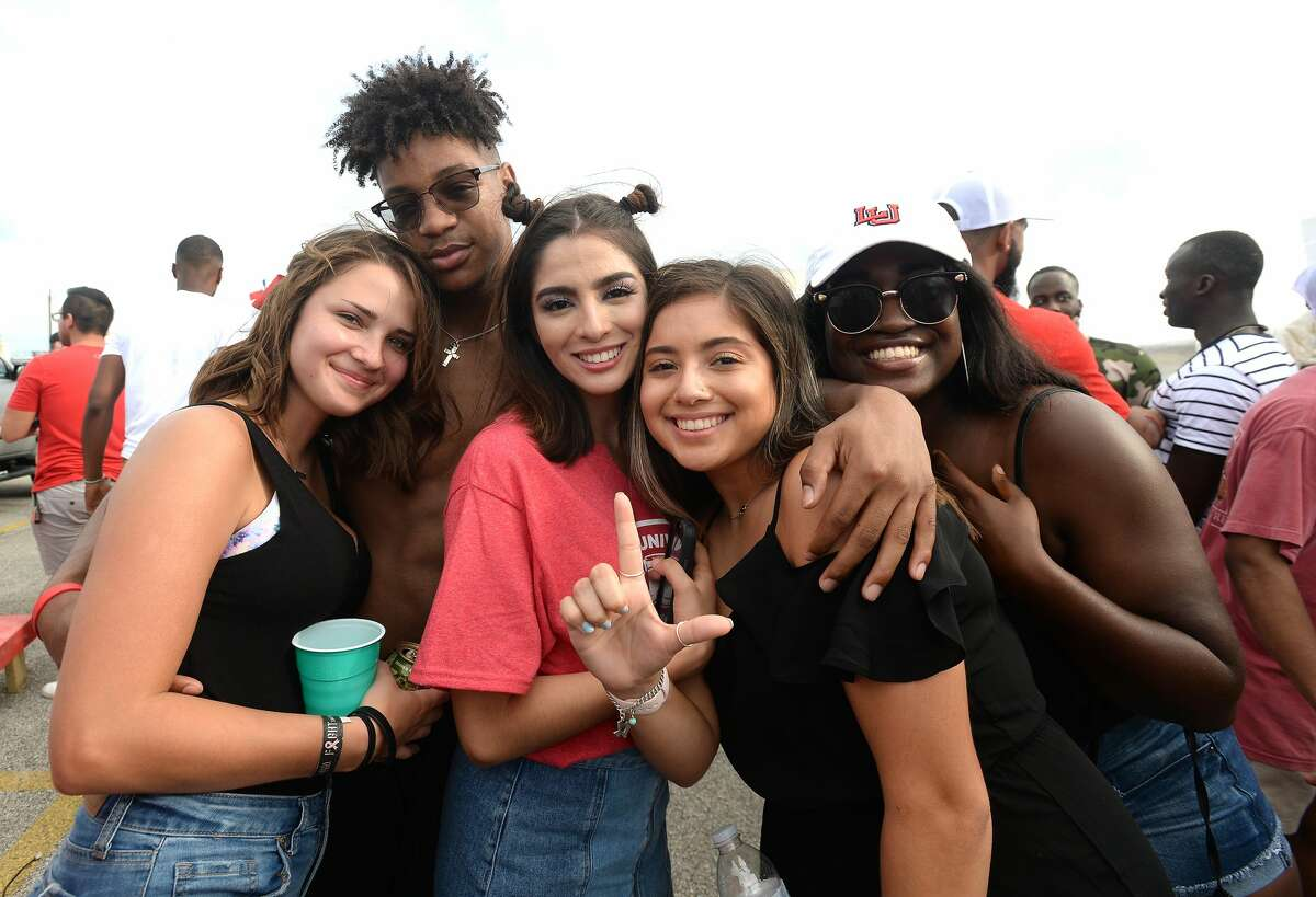 Lamar students and other fans celebrate homecoming before kick-off against Stephen F. Austin Saturday. Photo taken Saturday, September 28, 2019 Kim Brent/The Enterprise