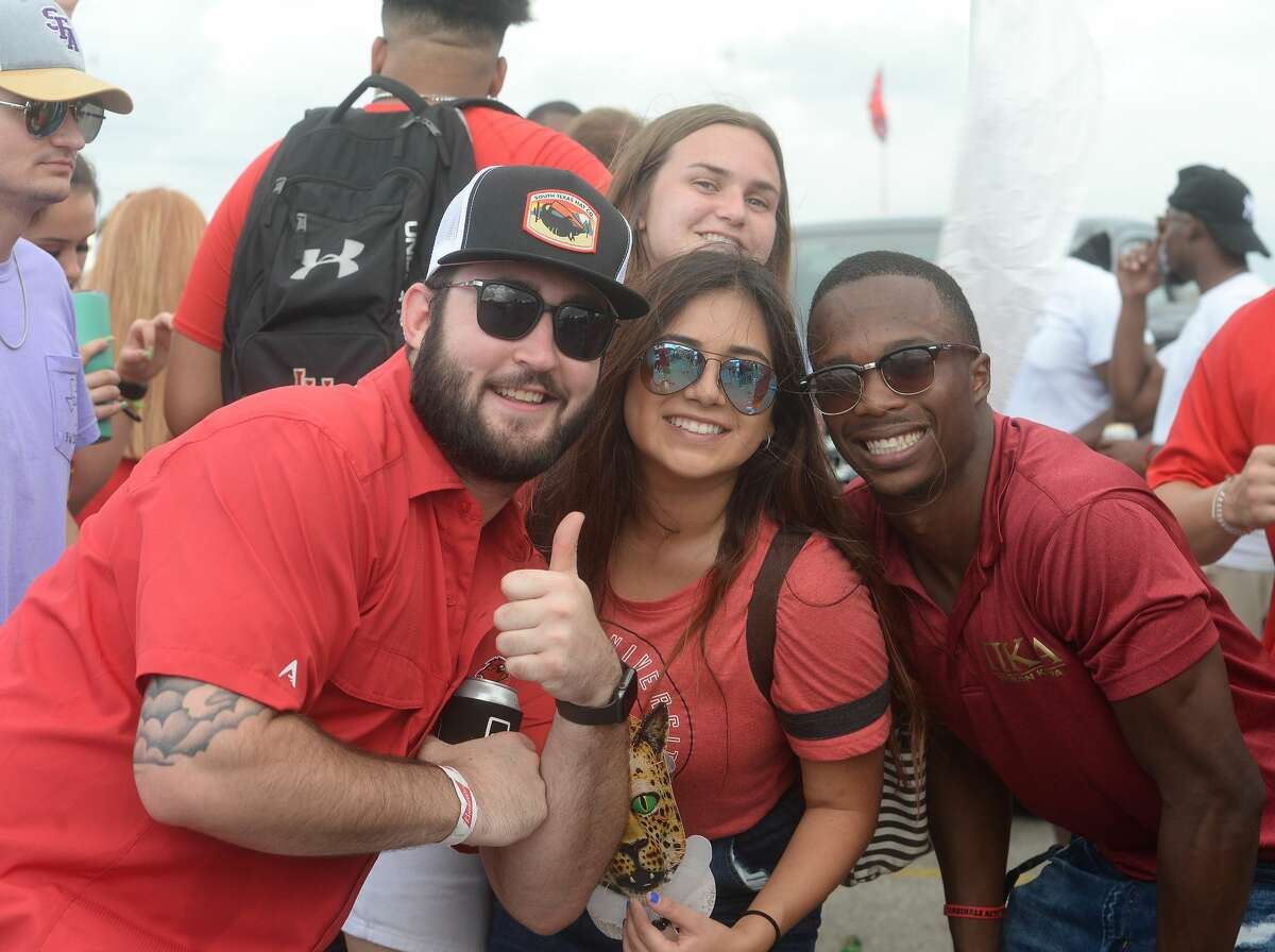 Lamar students and other fans celebrate homecoming at Fan Fest before kick-off against Stephen F. Austin Saturday. Photo taken Saturday, September 28, 2019 Kim Brent/The Enterprise