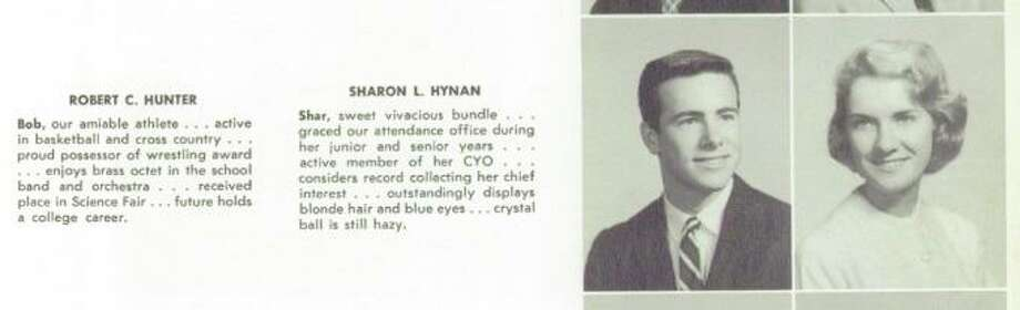 "A Stamford High School Class of 1959 yearbook shows Robert C. Hunter during his time at the school. He was known as an ""amiable athlete"" and enjoyed ""brass octt in the school band and orchestra."" Photo: Humberto J. Rocha / Hearst Connecticut Media / New Canaan News"