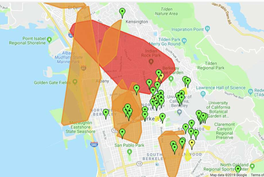 A large power outage hit Berkeley and the surrounding area on Sept. 29, 2019. Photo: PG&E