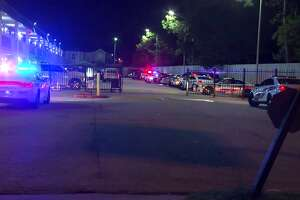 A man was found shot to death on Sunday morning in the walkway of a the Frontier Inn on the North Freeway.