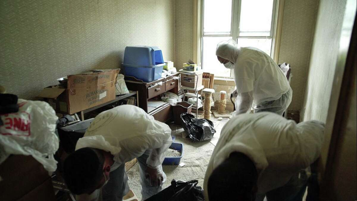 Nicole Levine's workers clean a home in Brooklyn in 2016.