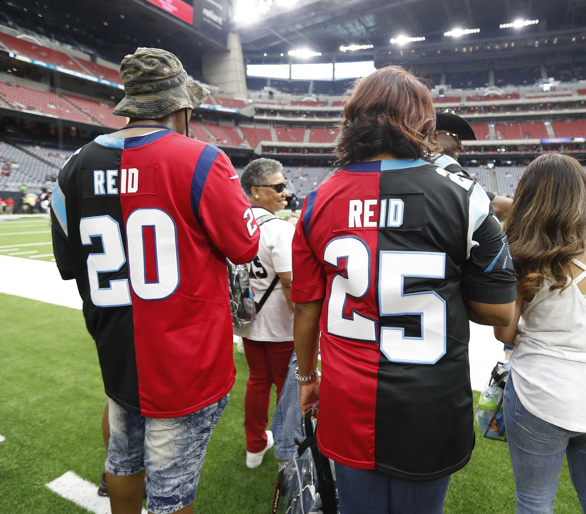 Family of Justin, Eric Reid split allegiances at Texans-Panthers game