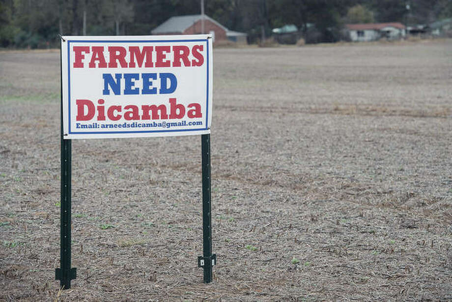 The use of the herbicide Dicamba has pitted farmers against each other, as states debate whether to ban its use. Nicholas Kamm | AFP (Getty Images)