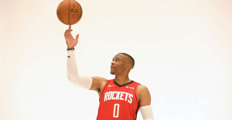 PHOTOS: Rockets Media Day Houston Rockets guard Russell Westbrook (0) poses for a photo during Houston Rockets Media Day on Friday, Sept. 27, 2019, in Houston. Photo: Jon Shapley/Staff Photographer