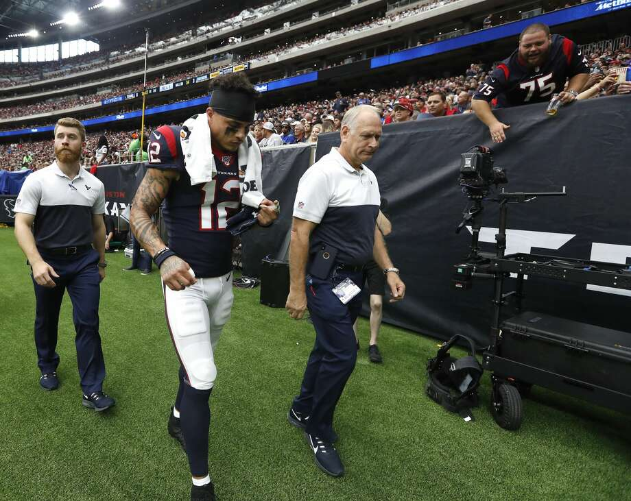 PHOTOS: Texans vs. Falcons Houston Texans wide receiver Kenny Stills (12) walks back to the locker room during the first half of an NFL football game at NRG Stadium on Sunday, Sept. 29, 2019, in Houston. >>>See more photos from the Texans' win over the Falcons on Sunday ... Photo: Karen Warren/Staff Photographer