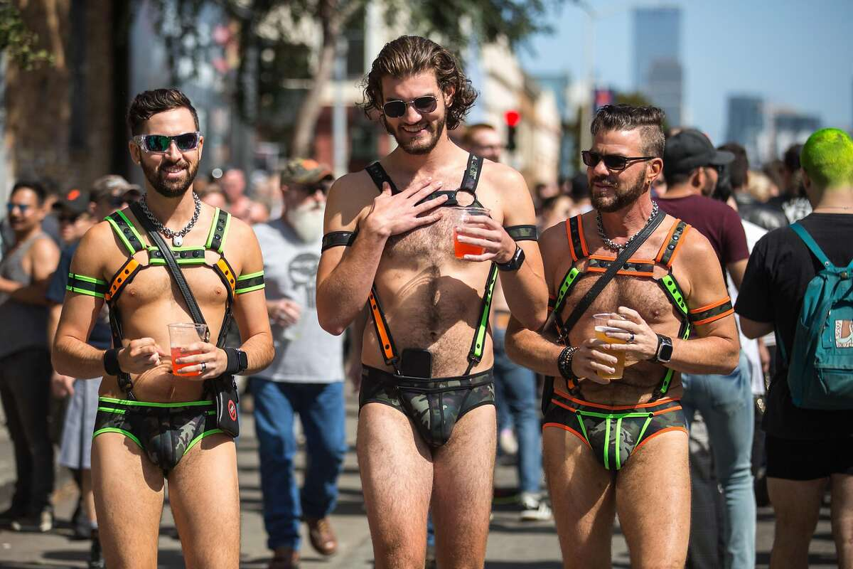 People partake in the 35th annual Folsom Street Fair, a celebration of alternative sexuality and fetish culture. On Sunday, September 29, 2019. San Francisco, Calif.