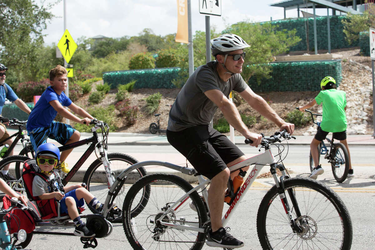 San Antonians enjoyed a family event to safely ride in the car-free streets at the Broadway corridor on Sunday, September 29, 2019.