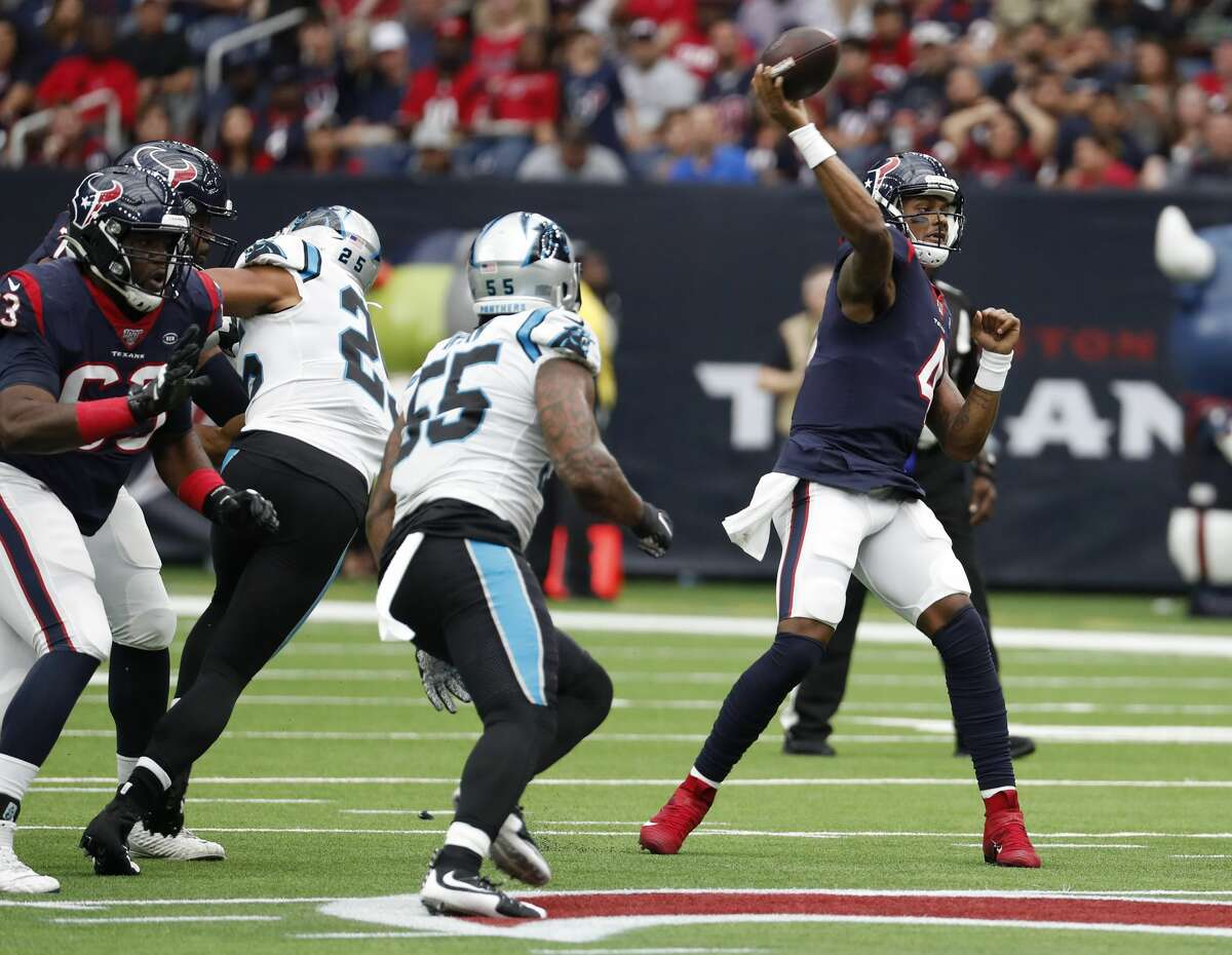 Deshaun Watson barely missed on two deep shots that might've changed the Texans' fortunes Sunday.
