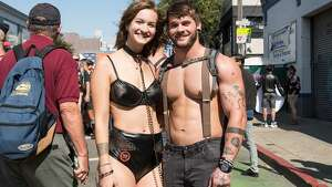 """The weather was beautiful for the 35th annual Folsom Street Fair, which hosted """"longtime leather daddies"""", """"rosy-cheeked newcomers"""", and everyone in between.  Sunday, September 29th, 2019."""