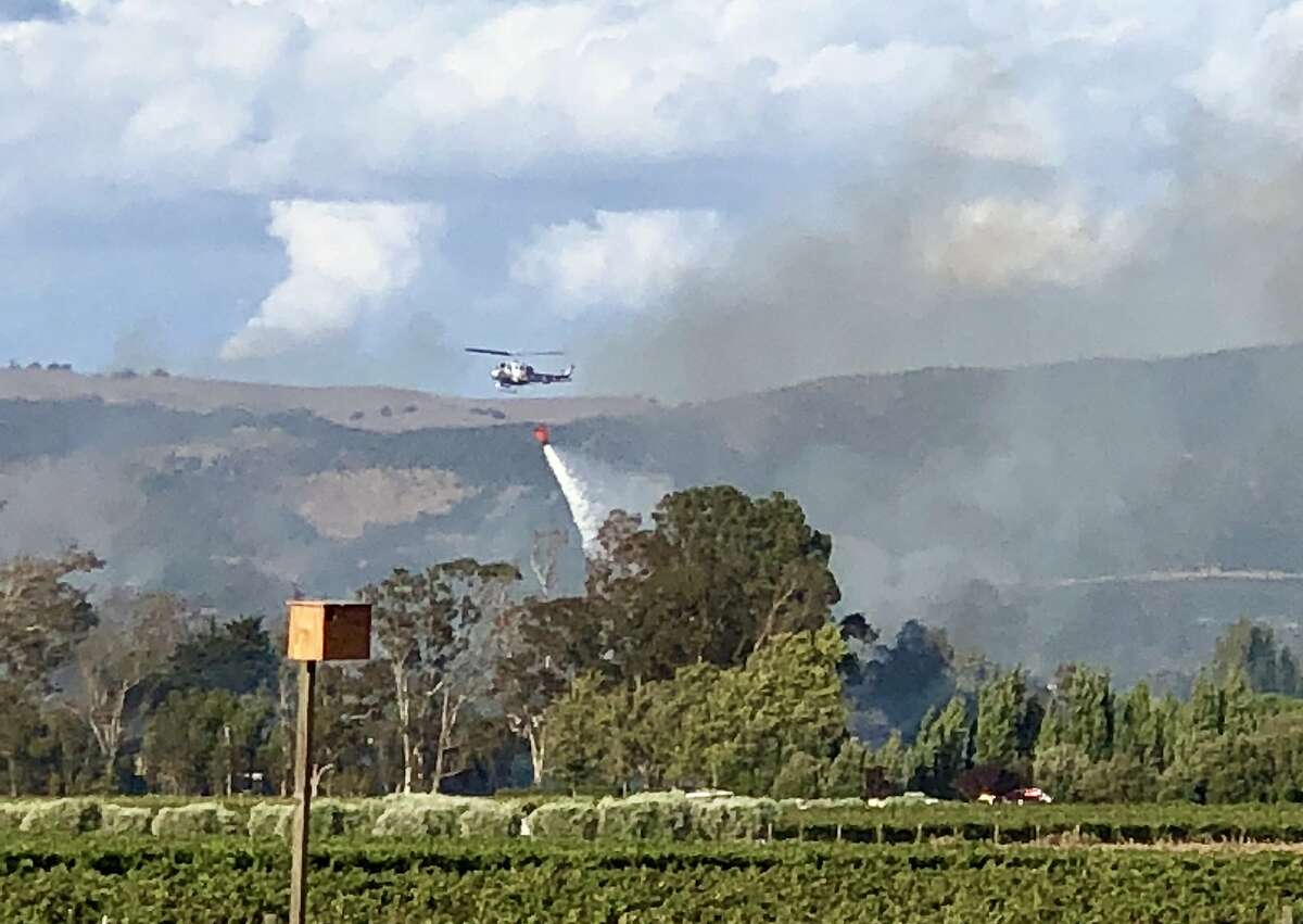The vegetation fire in Schellville burned nine acres in Sonoma County Saturday evening.