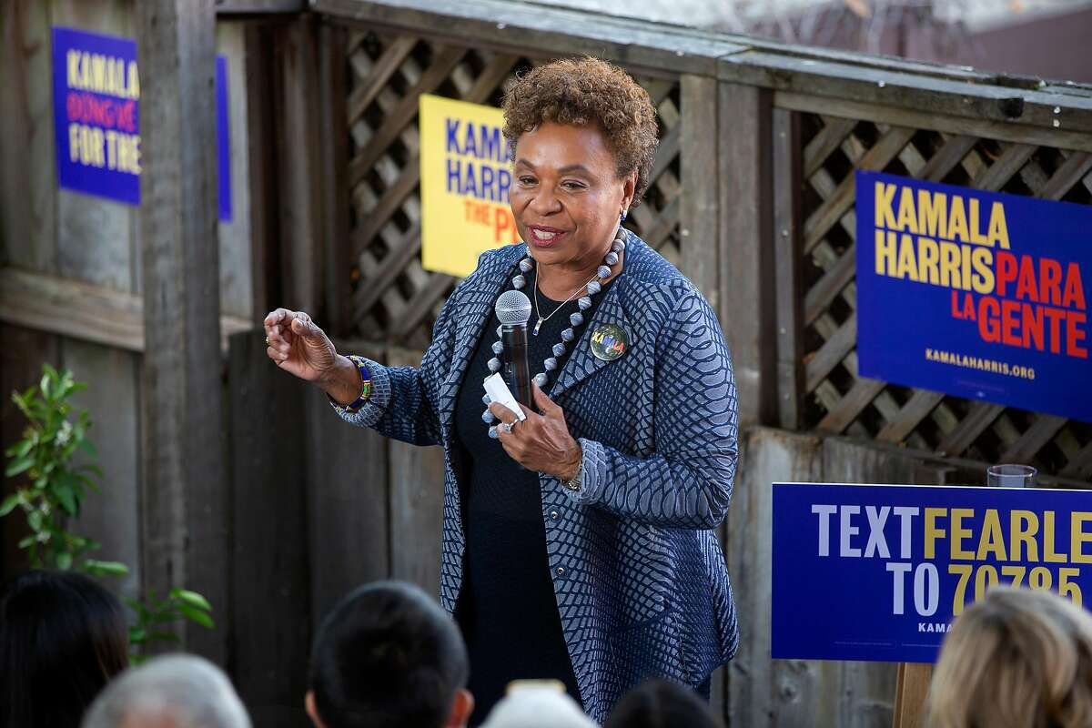 Congresswoman Barbara Lee speaks during the official opening of Sen. Kamala Harris' Hometown Headquarters California campaign office in Oakland, Calif. on Sunday, September 29, 2019.