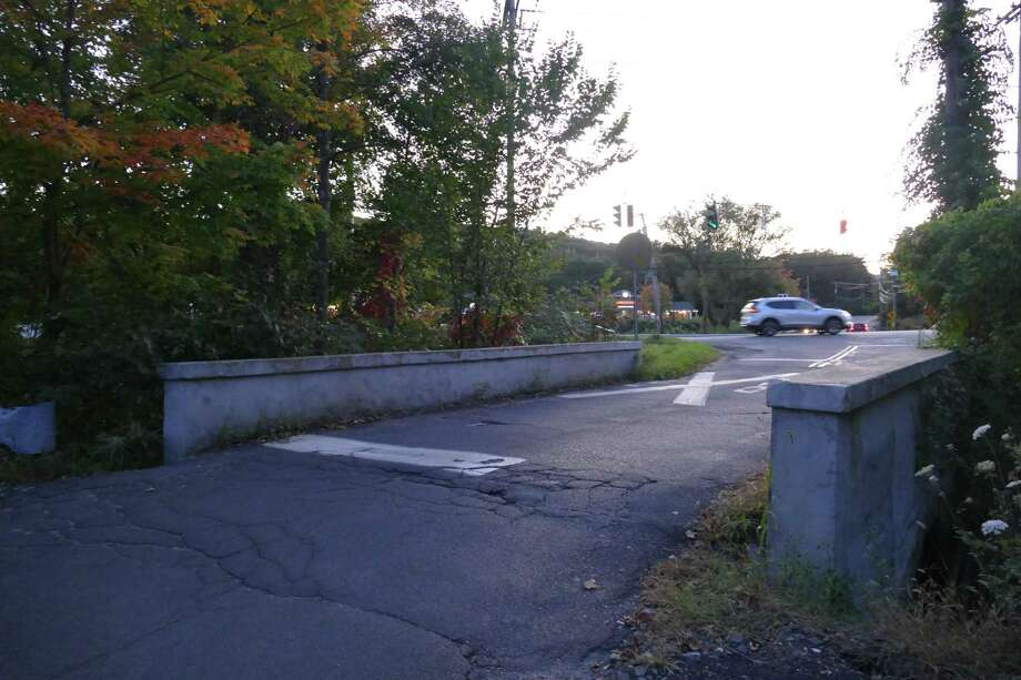 Depot Road Bridge — the more northerly of two bridges in and out of the Branchville train station — will be closed permanently Thursday, Oct. 3. Photo: Stephen Coulter / Hearst Connecticut Media