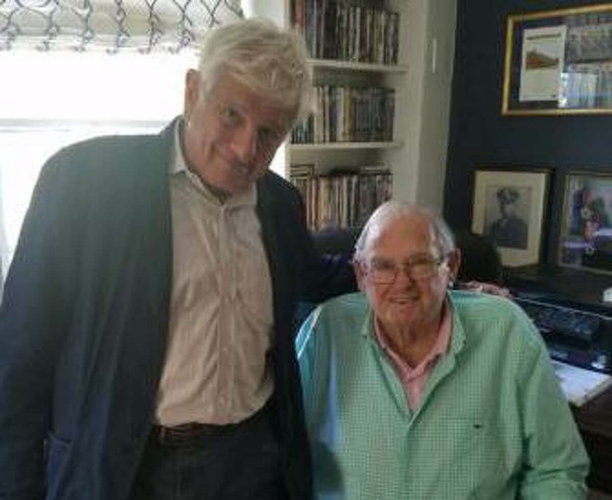 Toby Moffett, left, and Lowell P. Weicker Jr. recently reunited for the first time since their 1982 U.S. Senate race.