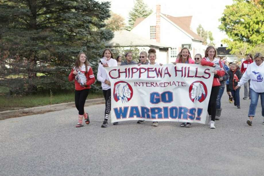 Chippewa Hills students celebrate their school spirit at a previous homecoming parade. This year, the parade will take place Wednesday, Sept. 18, in Mecosta. (Pioneer file photo)