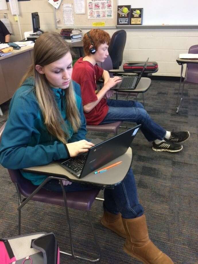 Area students are using technology to enhance their learning through 1:1 technology initiatives. (Pioneer file photo)