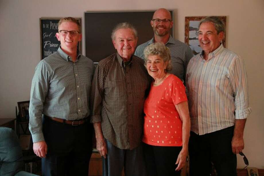 Members of the Mecosta County Community Foundation awarded Kermit and Jean Hainley the Northern Lights Lifetime Achievement Award. (Pioneer photo/Alicia Jaimes)
