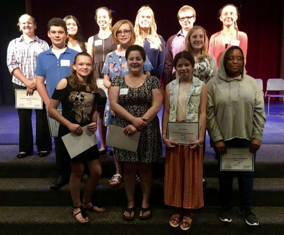 On Tuesday evening the Manistee County Community Foundation's Manistee Commitment Scholarship Program inducted 20 new members into the class of 2023 in a ceremony held at the West Shore Community College Center State Theater.