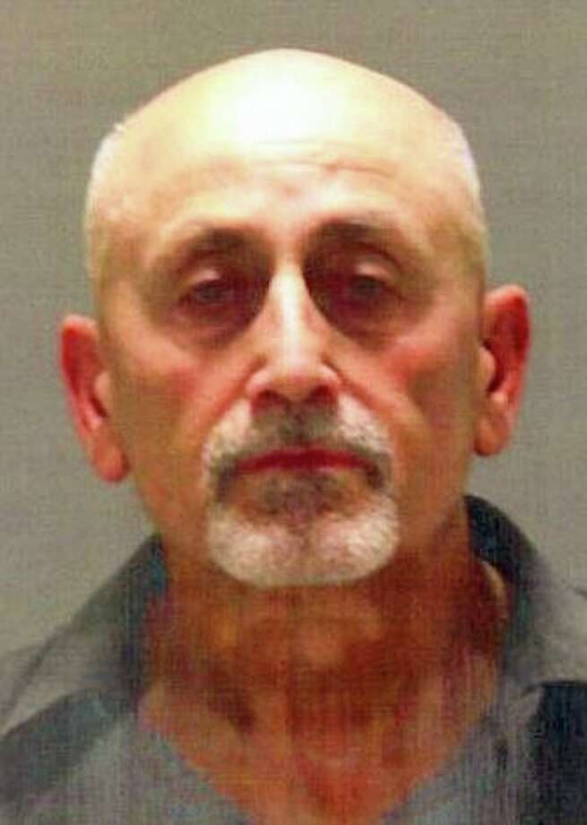 Ronald Garafalo, 64, of Maple Street, Bridgeport, was charged with larceny and trespass Friday evening, after police said they found evidence on videotape that he had entered the Innis Aden Golf Club and walked off with a racket. Photo: Greenwich Police Photo
